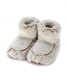 Пинкл (Pinkl) | Сапожки-грелки бежевые Marshmallow | Intelex Ltd Warmies Cozy Body Beige Marshmallow Boots