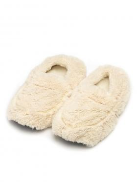 Пинкл (Pinkl) | Тапочки-грелки кремовые | Intelex Ltd Warmies Cozy Body Cream Slippers