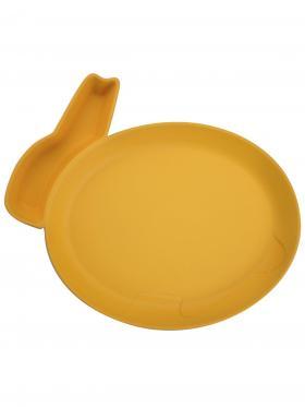 Пинкл (Pinkl) | Детская тарелка для кормления dipPLATEs оранжевый кролик | Jjrabbit Dipplate Rabbit Orange