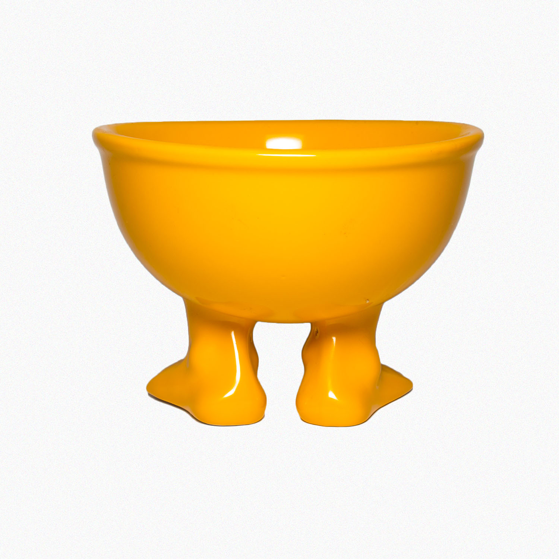Пинкл (Pinkl) | Миска (тарелка) средняя оранжевая | Dylan Kendall Efeet Collection Medium Bowl Orange