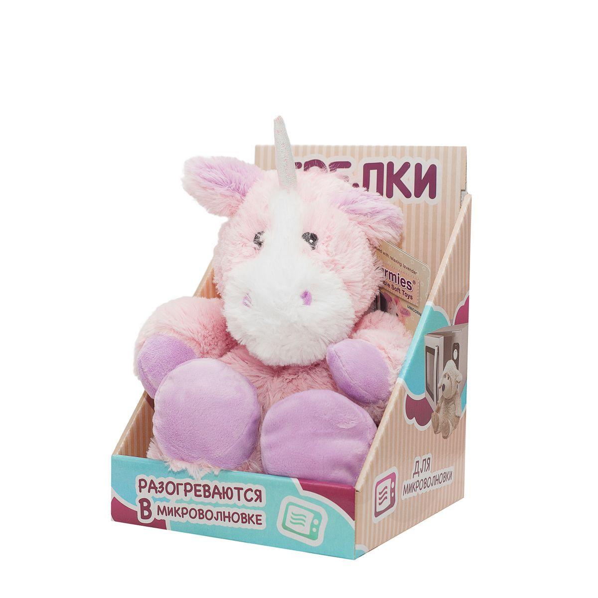 Пинкл (Pinkl) | Игрушка-грелка Единорог | Intelex Ltd Warmies Cozy Plush Unicorn