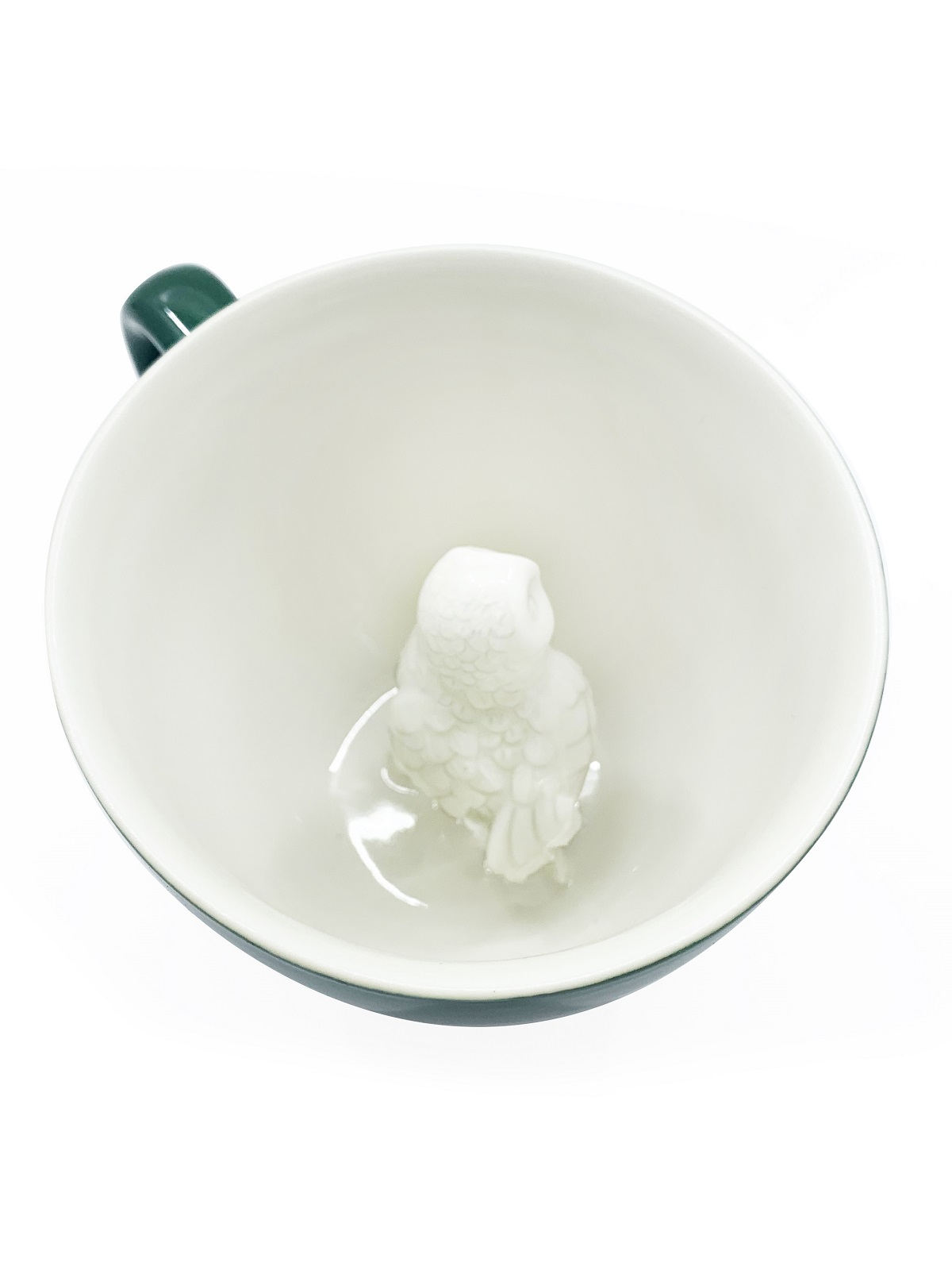 Пинкл (Pinkl)   Кружка с совой   Creature Cups Owl Emerald