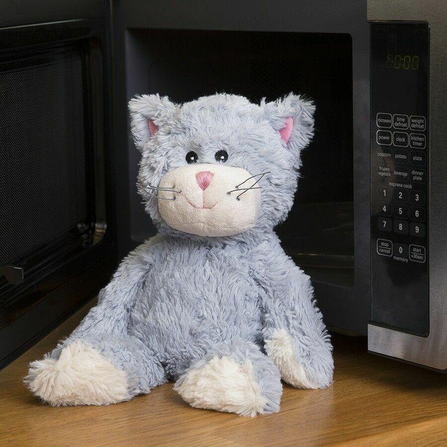 Пинкл (Pinkl) | Игрушка-грелка Синий Кот | Intelex Ltd Warmies Cat Blue Sitting