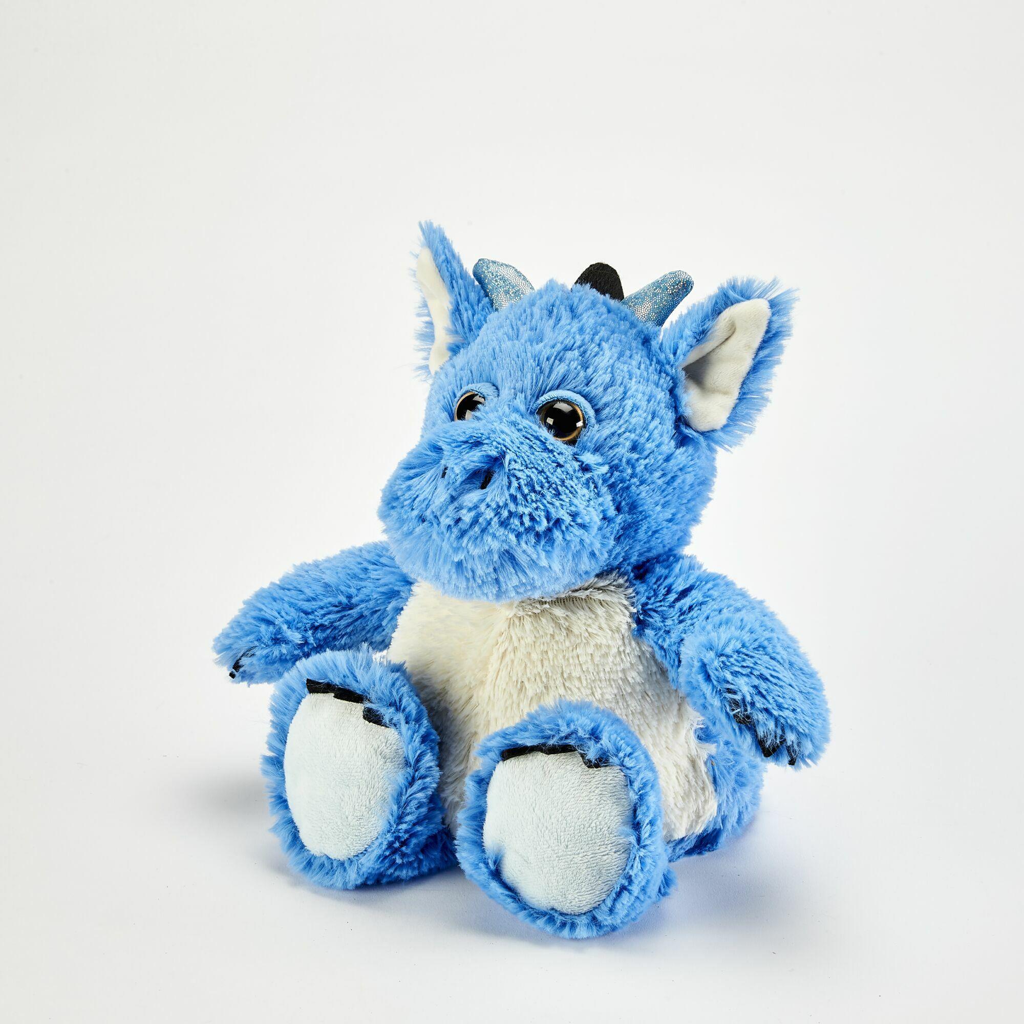 Пинкл (Pinkl) | Игрушка-грелка Синий Дракон | Intelex Ltd Warmies Dragon Blue