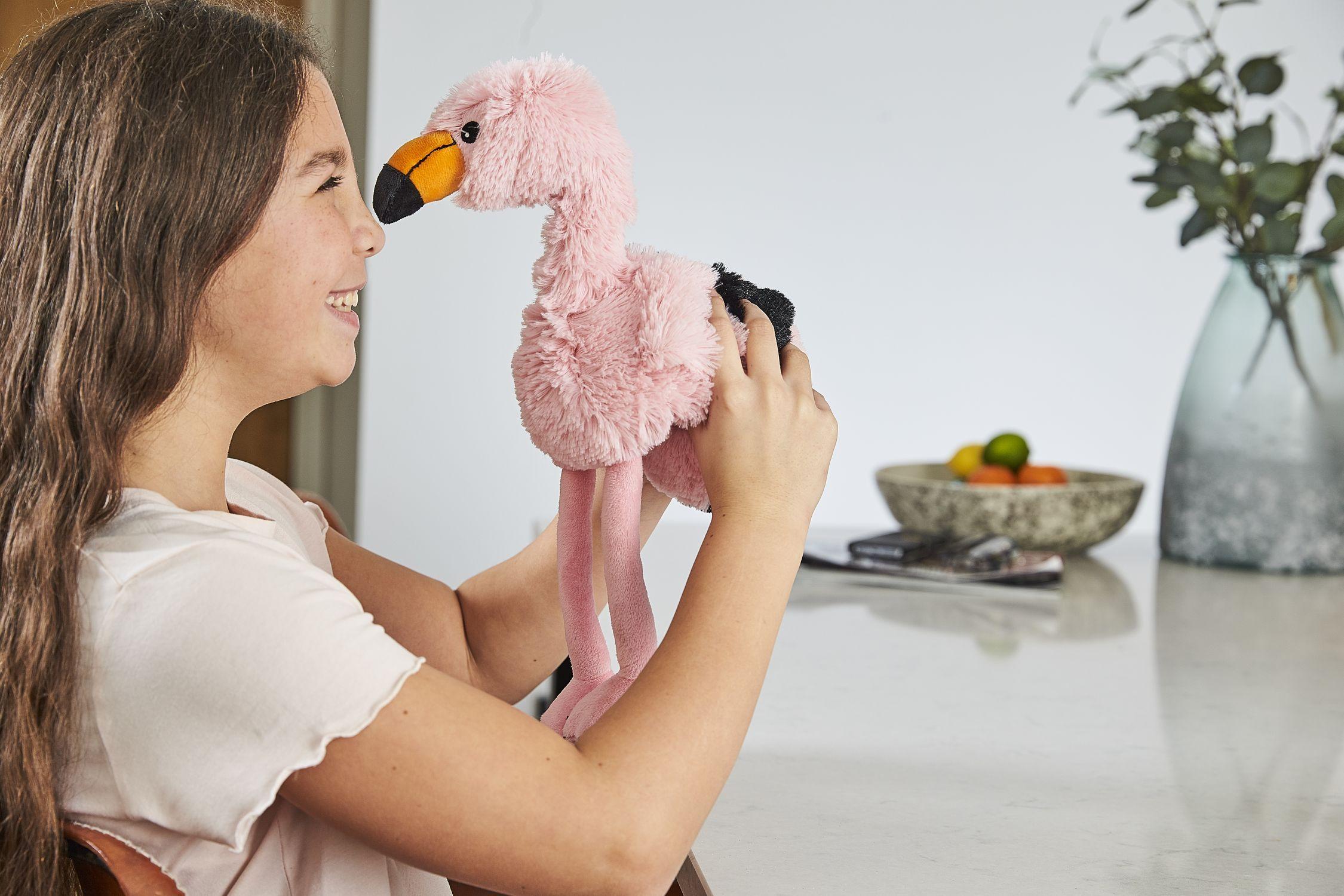 Пинкл (Pinkl) | Игрушка-грелка Фламинго | Intelex Ltd Warmies Cozy Plush Flamingo