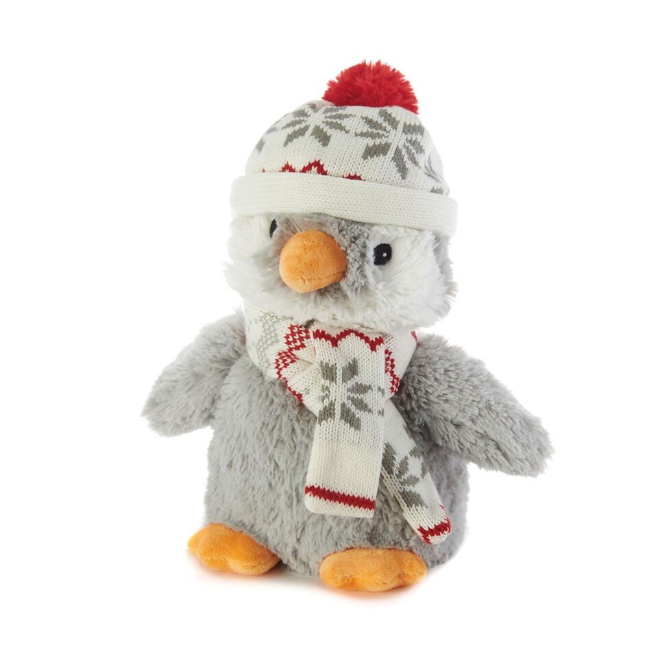 Пинкл (Pinkl) | Игрушка-грелка Пингвин в шапочке | Intelex Ltd Warmies Cozy Plush Penguin Hat