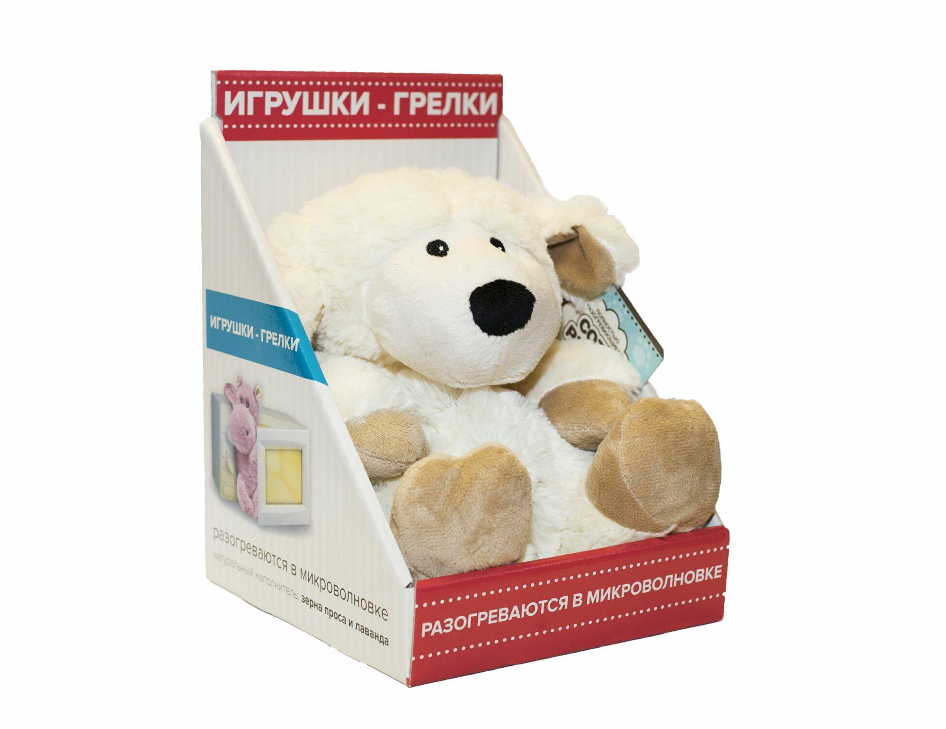 Пинкл (Pinkl) | Игрушка-грелка Овечка | Cozy Plush Microwaveable Soft Toy Sheep Intelex