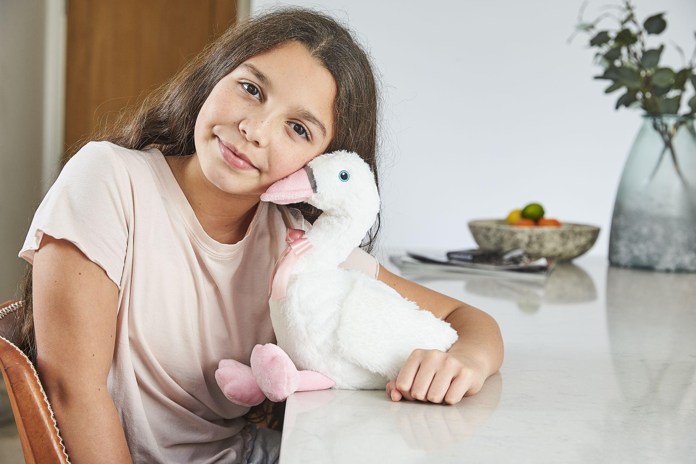 Пинкл (Pinkl) | Игрушка-грелка Лебедь | Intelex Ltd Warmies Cozy Plush Swan
