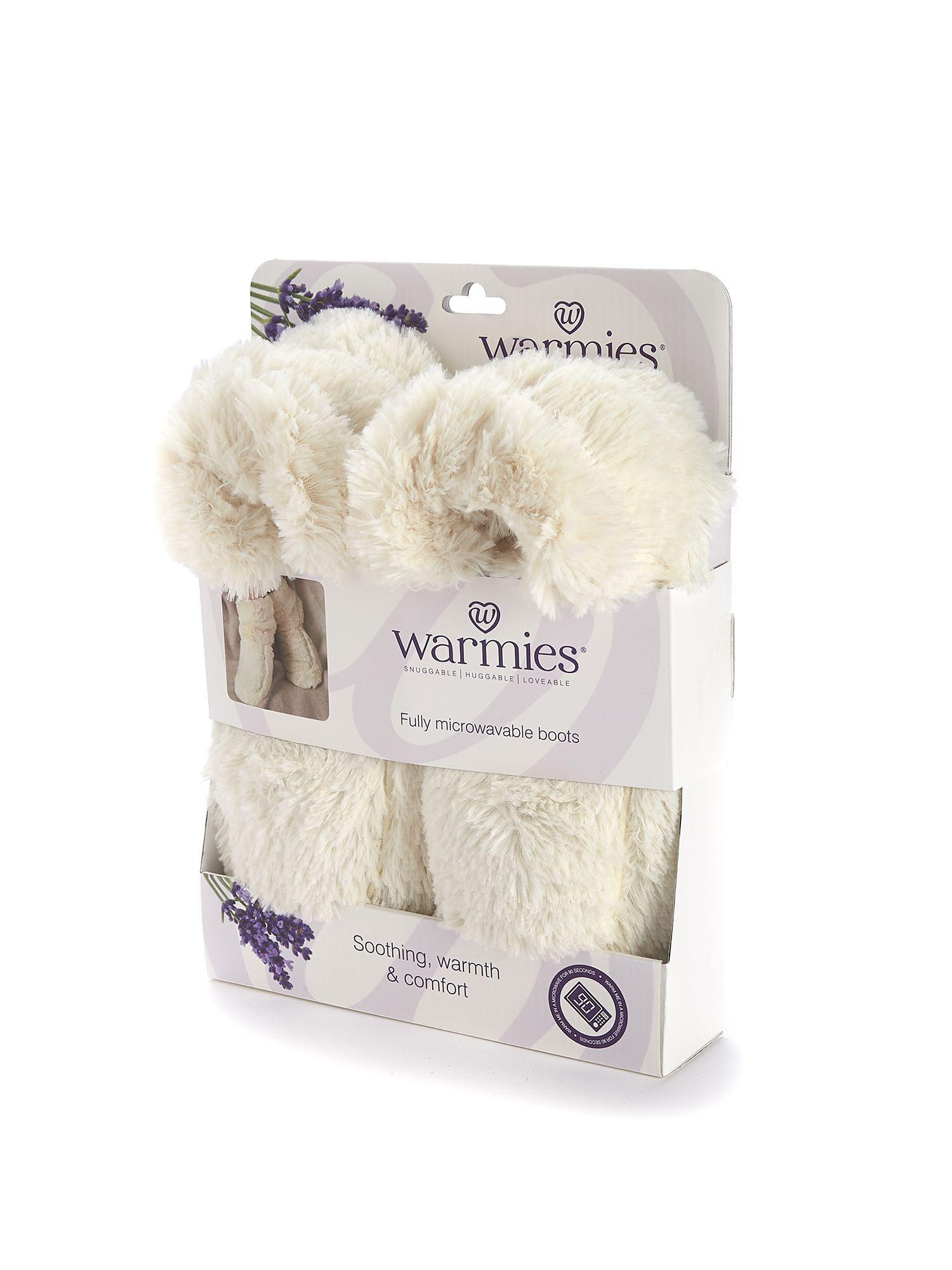 Пинкл (Pinkl) | Сапожки-грелки кремовые | Intelex Ltd Warmies Cozy Body Cream Boots