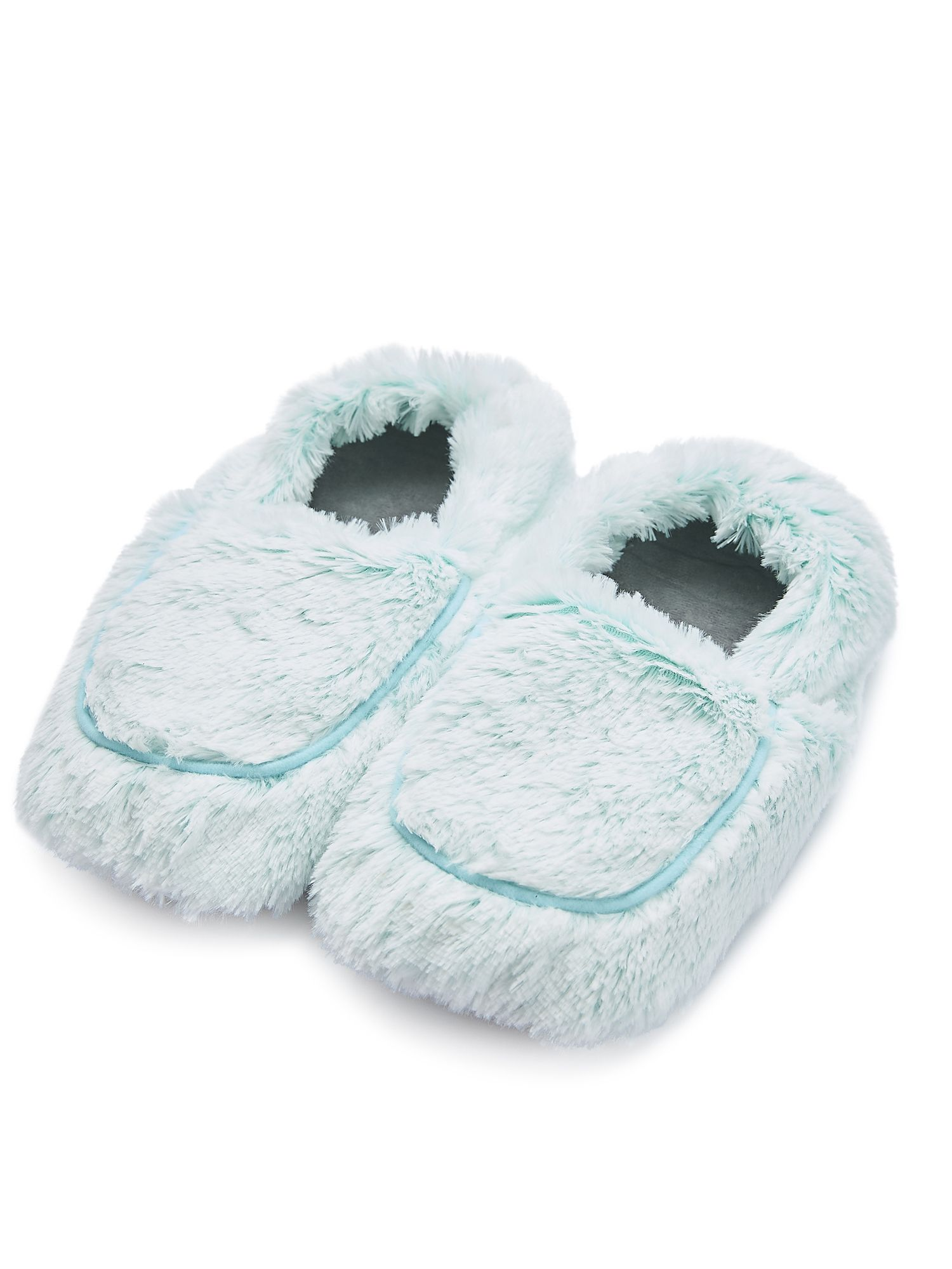 Пинкл (Pinkl) | Тапочки-грелки мятные Marshmallow | Intelex Ltd Warmies Cozy Body Mint Marshmallow Slippers