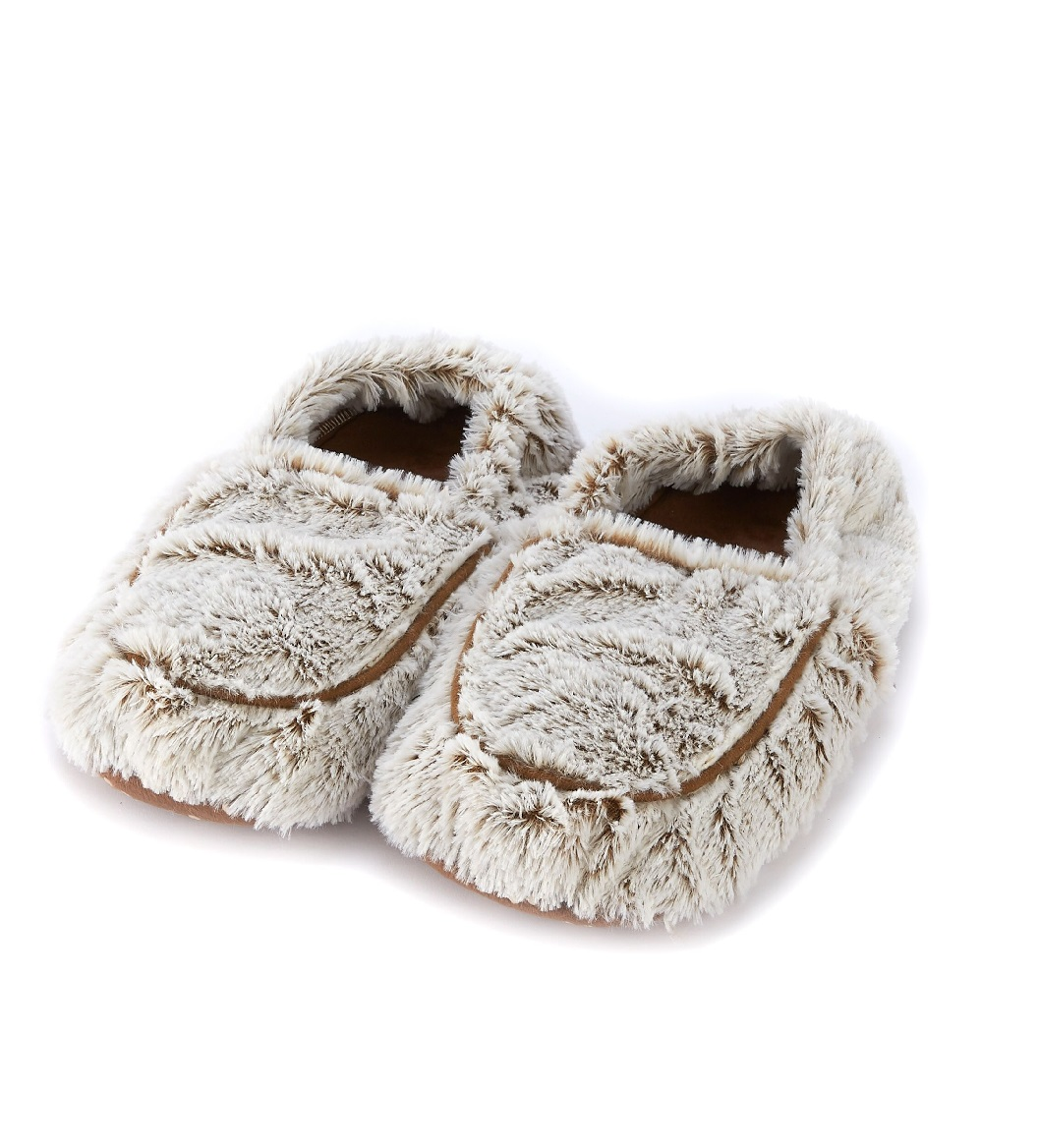 Пинкл (Pinkl) | Тапочки-грелки бежевые Marshmallow | Intelex Ltd Warmies Cozy Body Beige Marshmallow Slippers