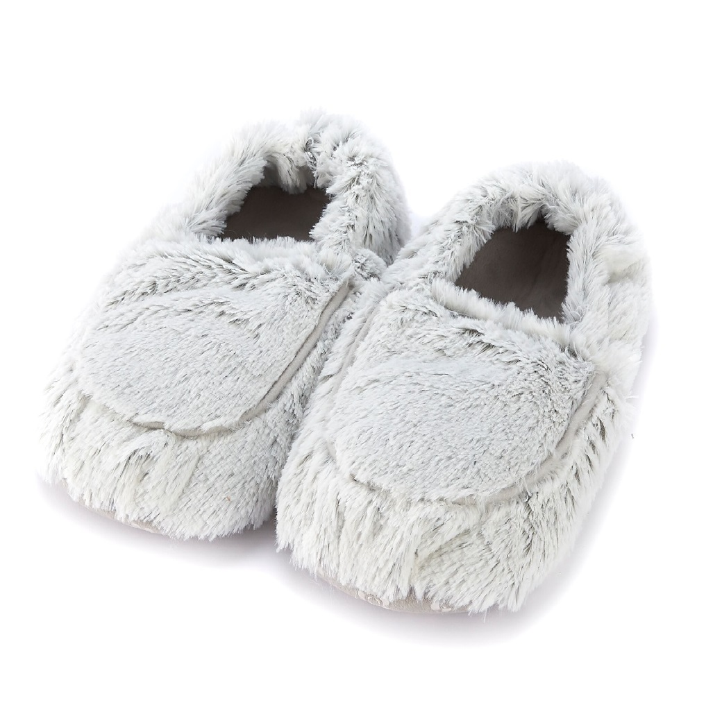 Пинкл (Pinkl) | Тапочки-грелки серые Marshmallow | Intelex Ltd Warmies Cozy Body Grey Marshmallow Slippers