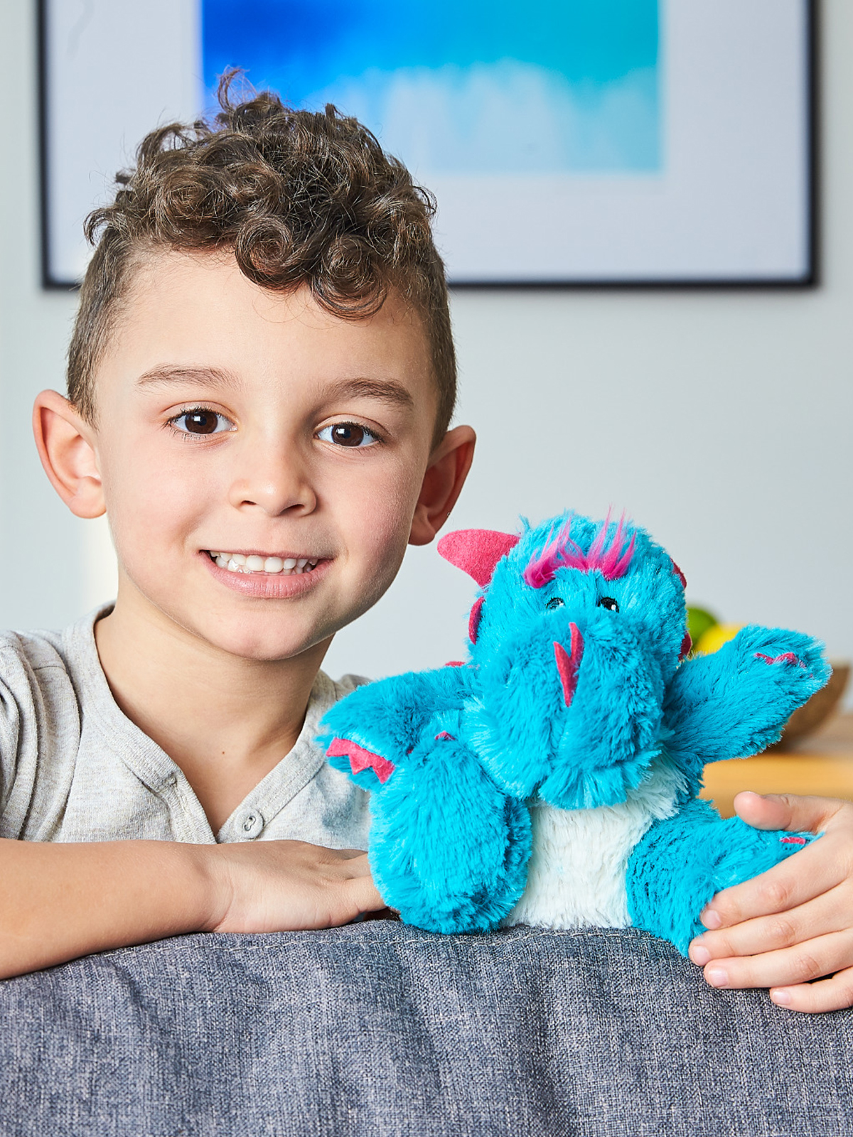 Пинкл (Pinkl) | Игрушка-грелка Junior Дракончик | Intelex Warmies Cozy Plush Junior Dragon