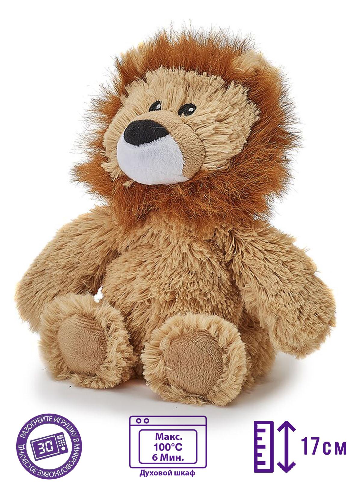 Пинкл (Pinkl) | Игрушка-грелка Junior Львенок | Intelex Warmies Cozy Plush Junior Lion