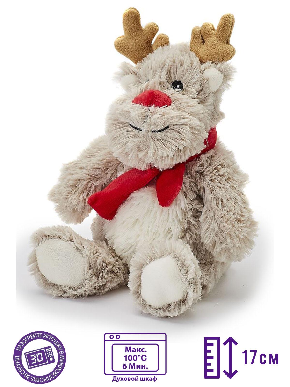 Пинкл (Pinkl) | Игрушка-грелка Junior Олененок | Intelex Warmies Cozy Plush Junior Reindeer
