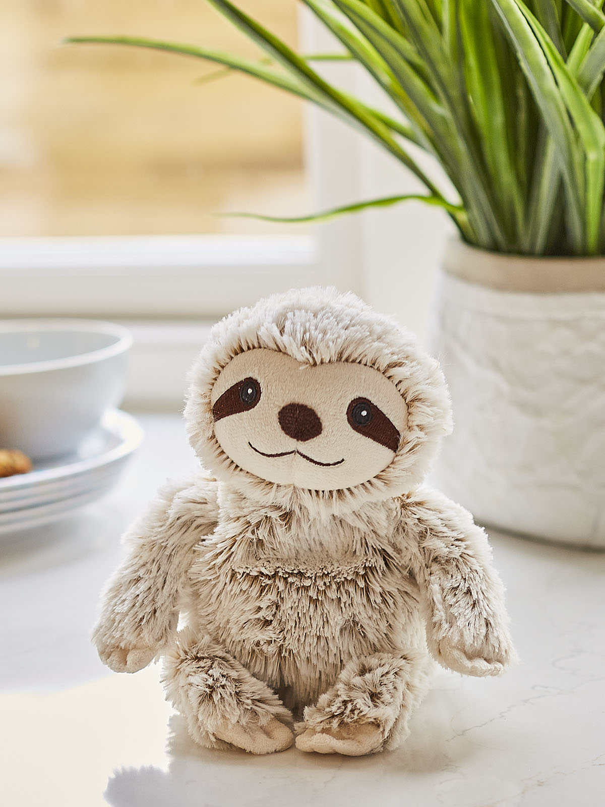 Пинкл (Pinkl) | Игрушка-грелка Junior Ленивец Marshmallow | Intelex Warmies Cozy Plush Junior Sloth Marshmallow