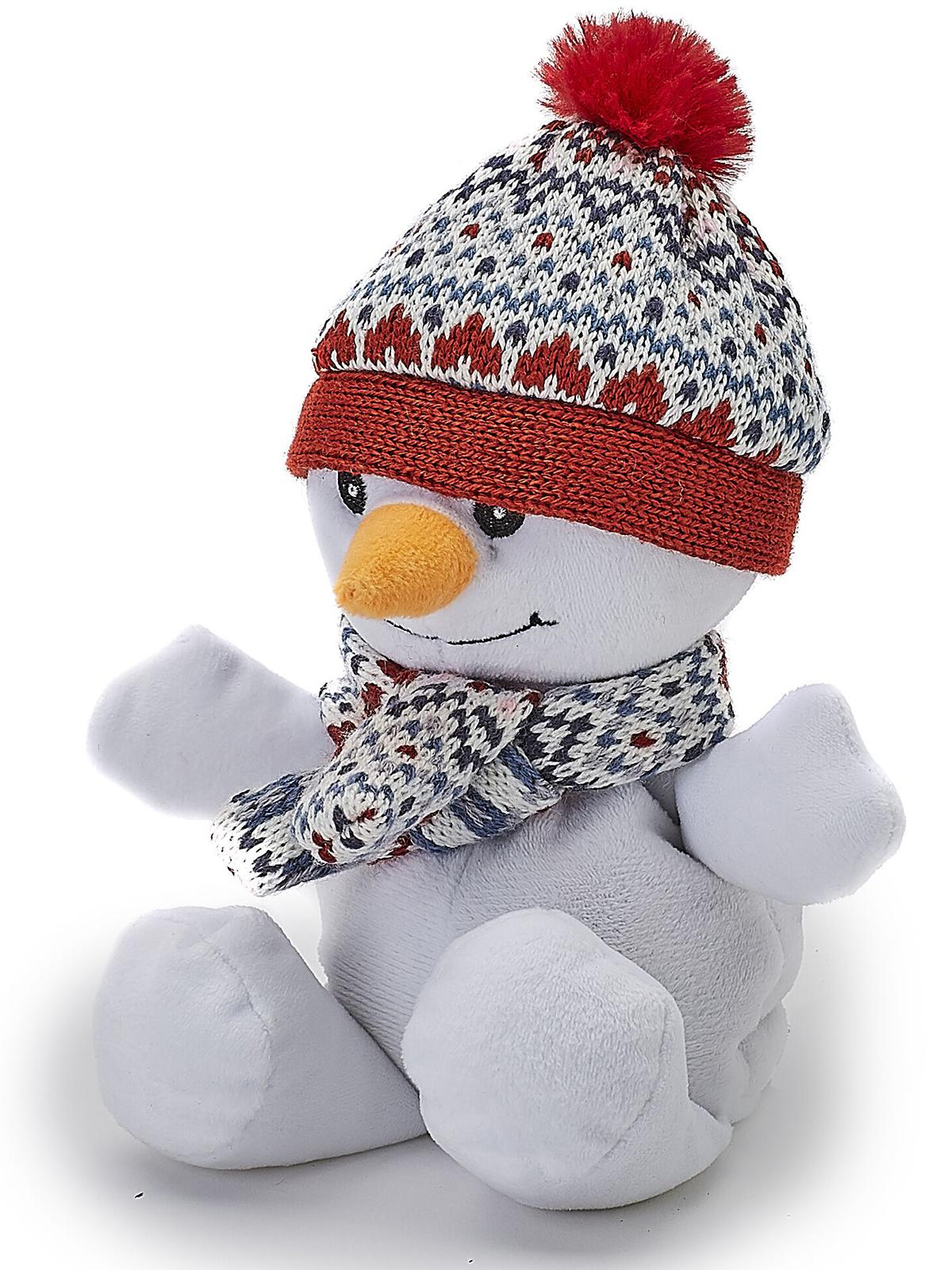 Пинкл (Pinkl) | Игрушка-грелка Junior Снеговичок | Intelex Warmies Cozy Plush Junior Snowman