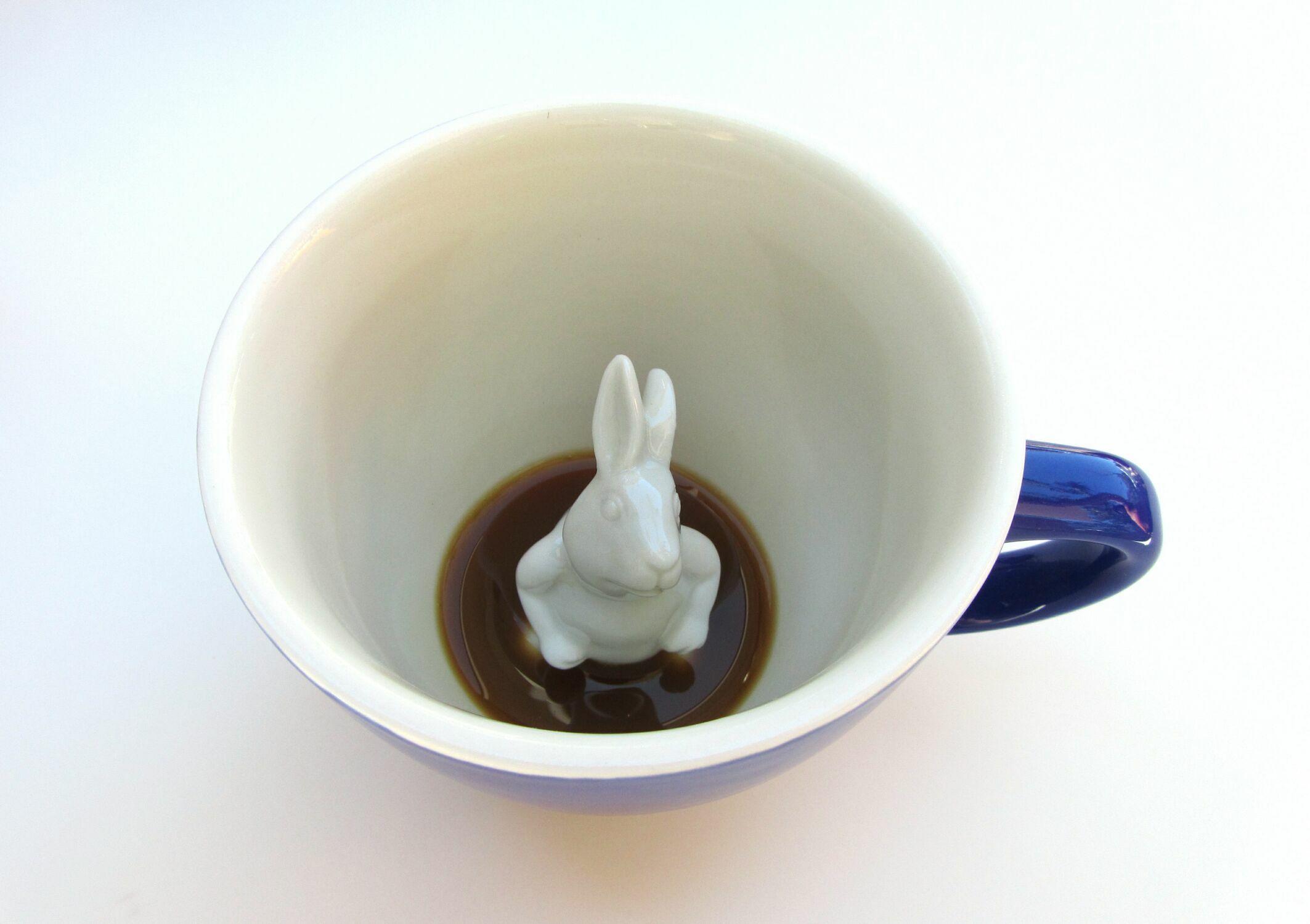 Пинкл (Pinkl) | Кружка с кроликом 330мл | Creature Cups Rabbit 11oz CobaltBlue