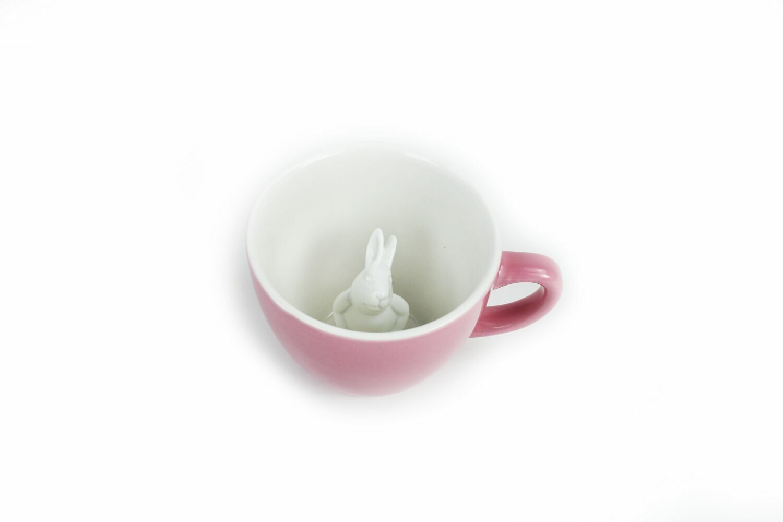 Пинкл (Pinkl) | Кружка с кроликом розовая 330мл | Creature Cups Rabbit Pink