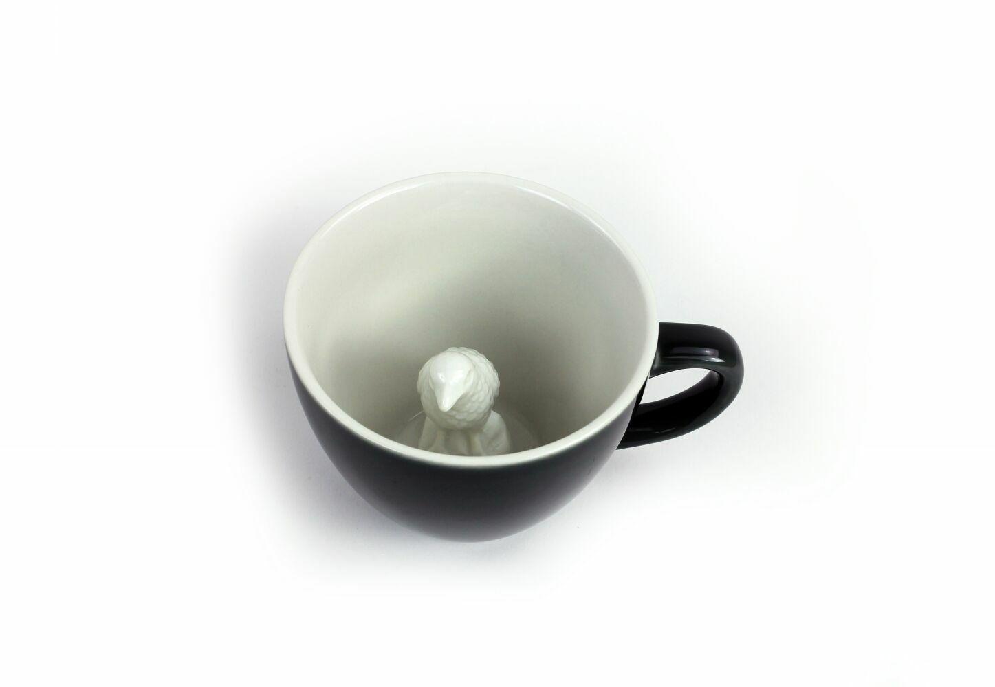 Пинкл (Pinkl) | Кружка с вороной 330мл | Creature Cups Crow