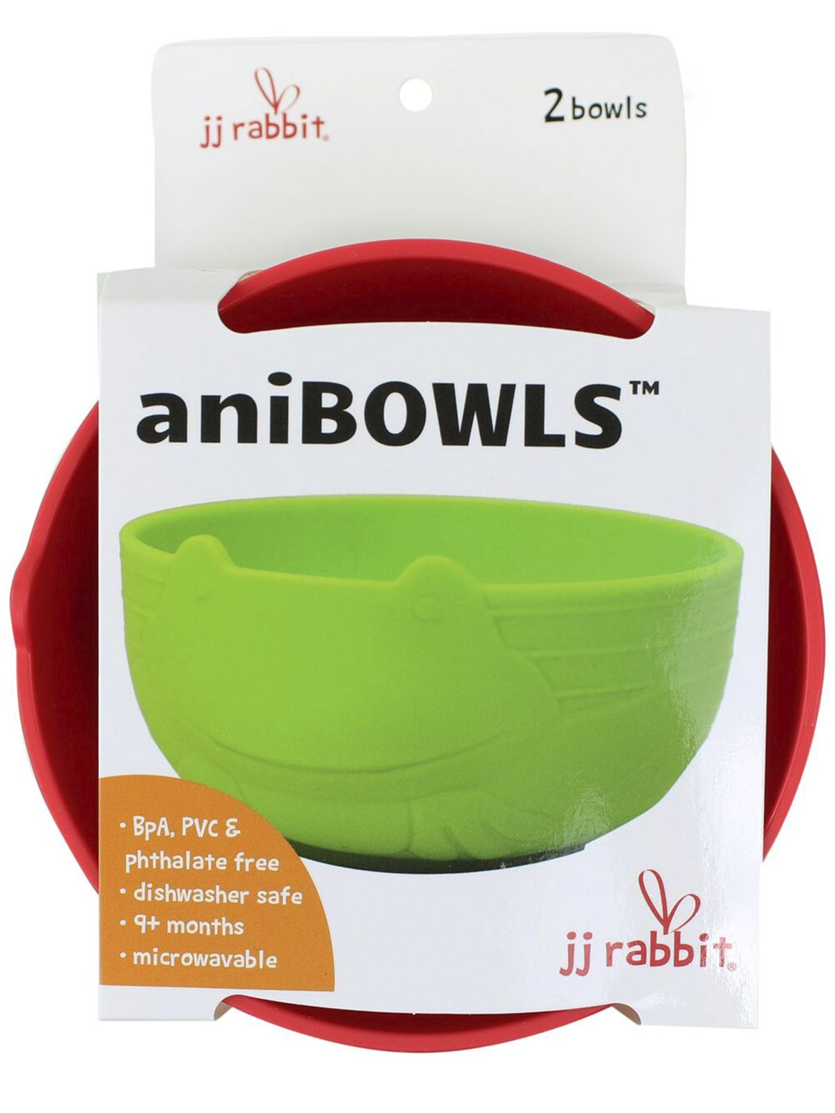 Пинкл (Pinkl) | Детская миска для кормления aniBOWLS лягушонок (2шт) | Jjrabbit Anibowl Frog