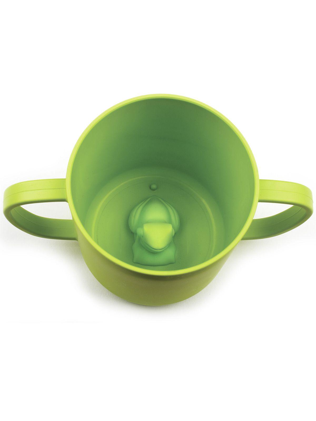 Пинкл (Pinkl) | Детская кружка CUPPIES с лягушонком | Jjrabbit Cuppies Frog