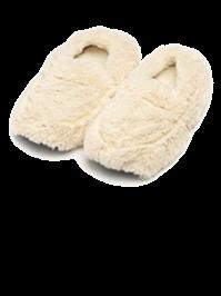 Тапочки-грелки кремовые