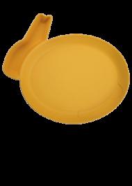 Детская тарелка для кормления dipPLATEs оранжевый кролик