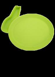 Детская тарелка для кормления dipPLATEs зеленый кролик