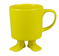 Кружка цвет желтый